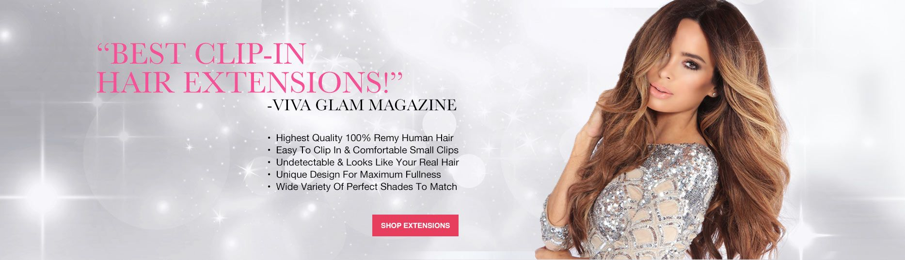 Shop the best clip-in extensions with the highest quality remy human hair as seen on Shark Tank.
