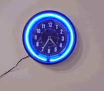 Neon Wall Clock Hidden Camera