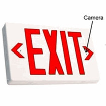 Exit Sign Hidden Camera