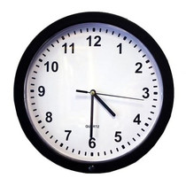 Wall Clock Hidden Camera w/ DVR (90-Day Standby Battery)