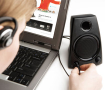 Logitech PC Desktop Speakers HD Hidden Camera