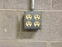 4/2 Gang Power Receptacle Hidden Camera