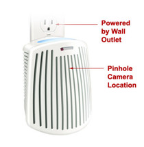 Plug-in Mini Air Freshener Hidden Camera w/ Night Vision & WiFi Remote View