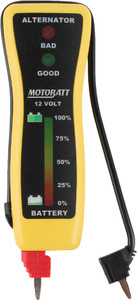 MotoBatt MBVM Pocket Voltmeter Tester for 12V Battery and Charging Sys