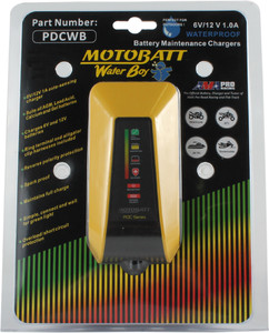 MotoBatt PDC Series Water Boy Battery Maintenance Charger 6V/12V 1 Amp