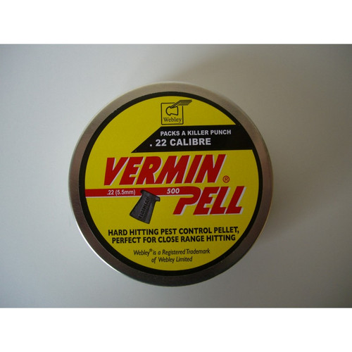 Best price for Webley Verminpell .22 Pellets, on sale at Bradford Stalker