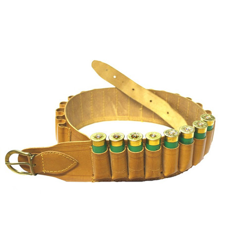 Natural Leather Cartridge Belt 12G