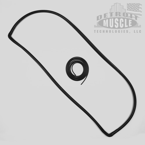 Mopar A Body 67 68 69 Barracuda NOTCHBACK Rear Window Seal with Locking Strip