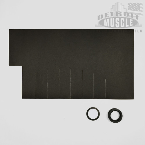 "Mopar A Body 67-76 Fuel Gas Tank Pad Insulation - .070"" Felt Paper PLUS Grommet & Sending Unit Seal"
