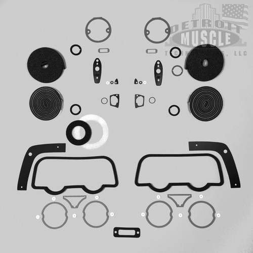 Mopar B Body 68 Charger Paint Exterior Gasket Set with Outer Taillight Gaskets