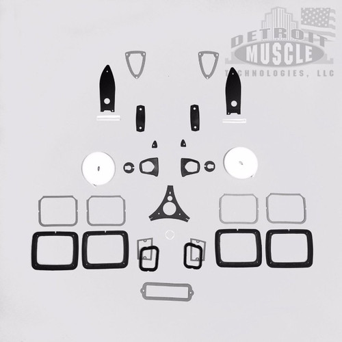 Mopar B Body 64 Dodge 330 440 Exterior Paint Gasket Set WITH Taillight Housing