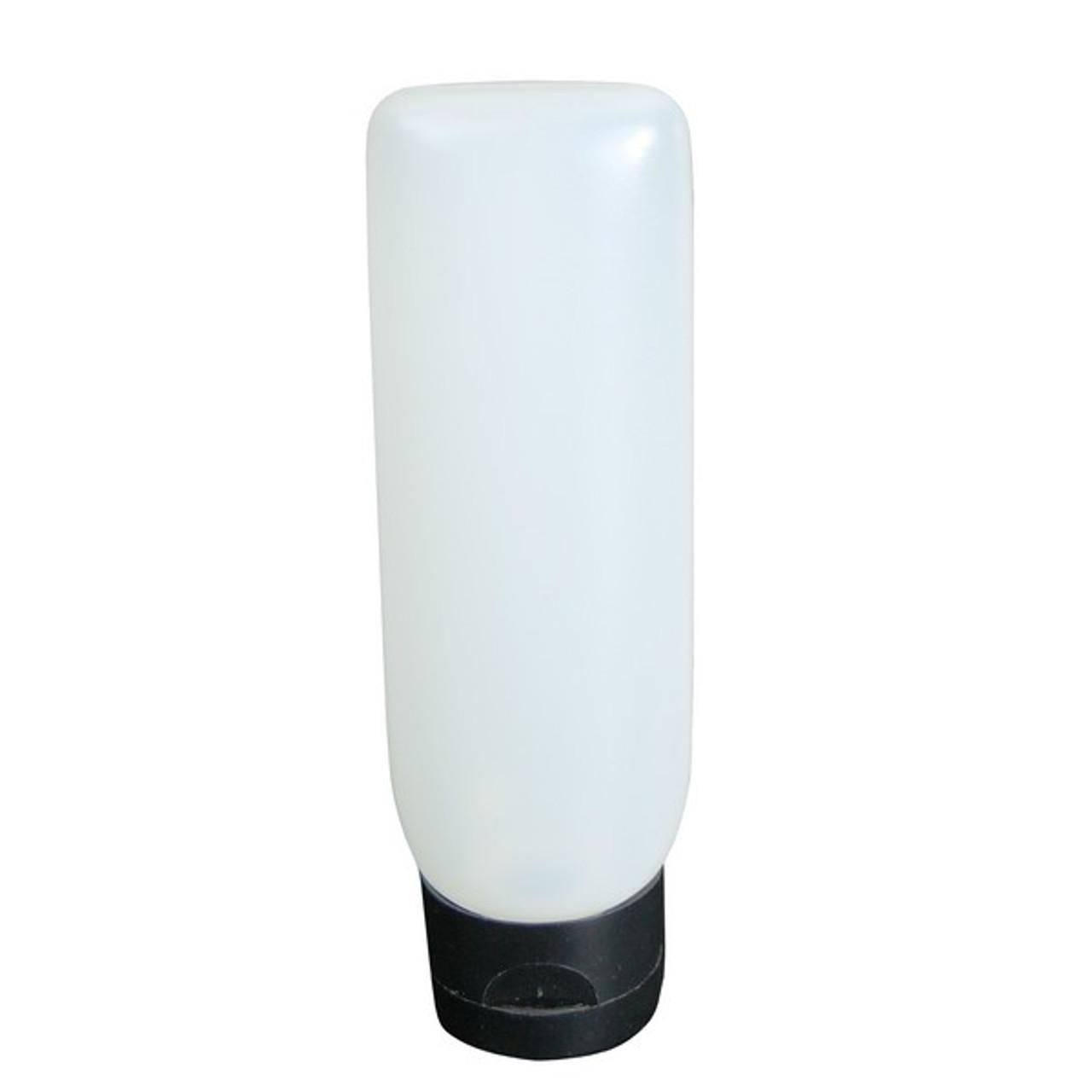 4 Oz Natural Mdpe Plastic Tottle Tube Flip Top Freund