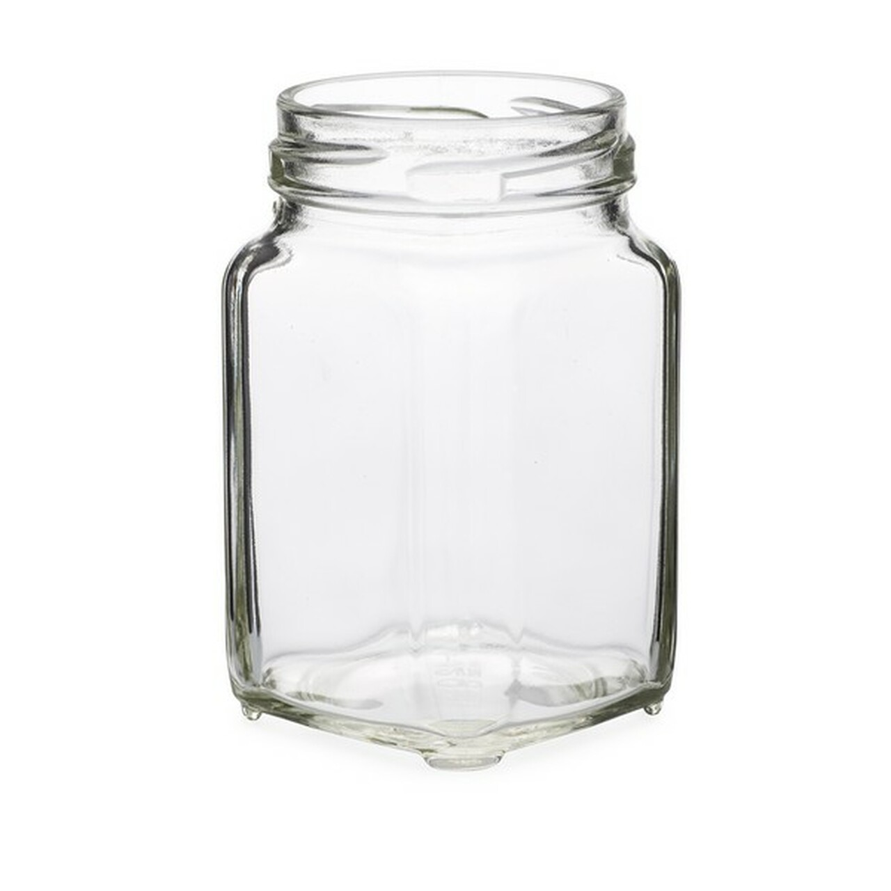 6 3 oz clear glass square jars cap not included berlin. Black Bedroom Furniture Sets. Home Design Ideas