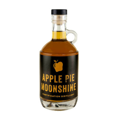 375 ml Glass Moonshine Liquor Bottle (Bar Top Cork)   Berlin