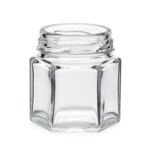 Glass Hexagon Jars
