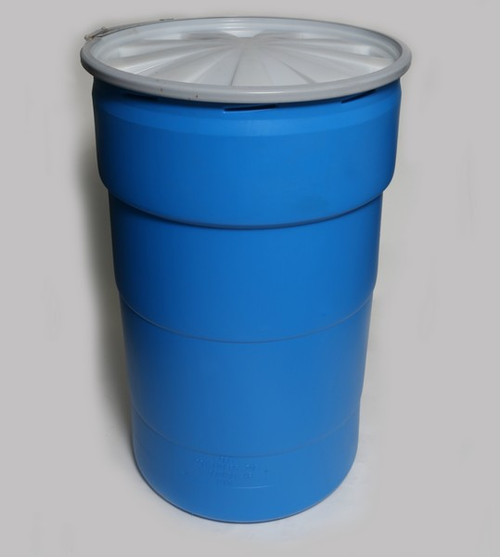 55 Gal Blue HDPE Plastic Open Head UN Rated Nestable Drums