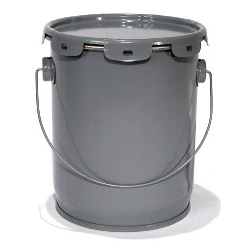 5 Gal Epoxy Lined Steel Un Rated Buckets With Lug Lid