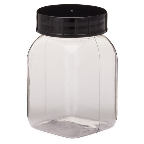 Kautex PETG Plastic Square Wide Mouth Leakproof Jars With Cap
