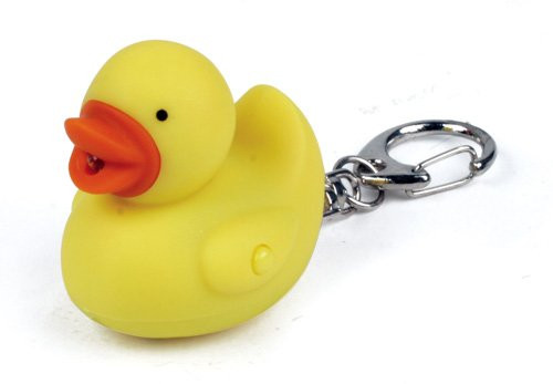 Rubber Duck LED keychain Flashlight | Ducks in the Window
