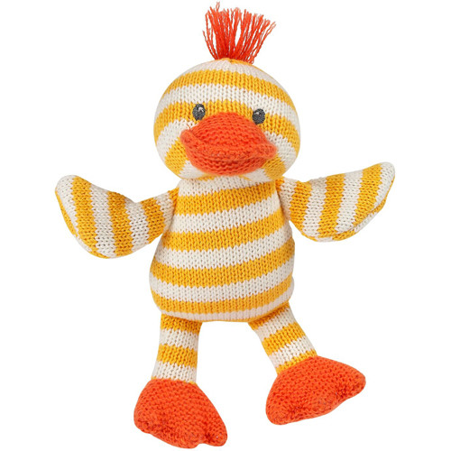 Quackers the Duck Knit Rattle by Maison Chic | Ducks in the Window®