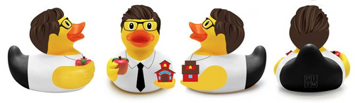 Teacher (Male) Rubber Duck by DITW Designs | Ducks in the Window®
