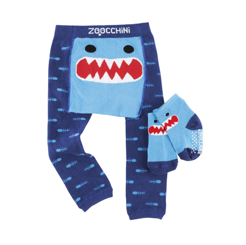 Shark Crawler legging and sock set by ZooChini | Ducks in the Window®