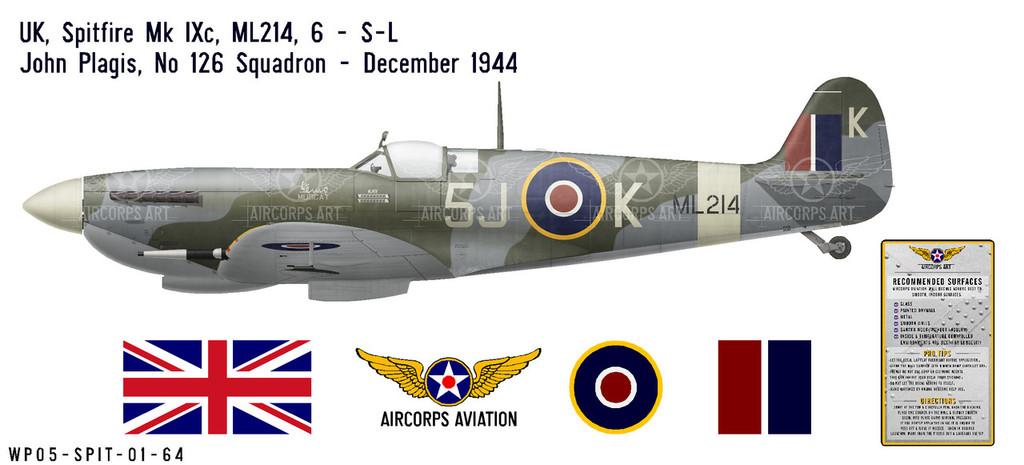 Spitfire Mk IXc Decorative Vinyl Decal