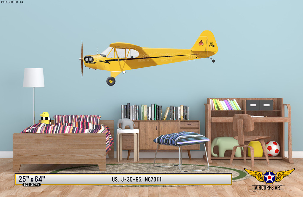 J-3 Piper Cub Decorative Vinyl Decal