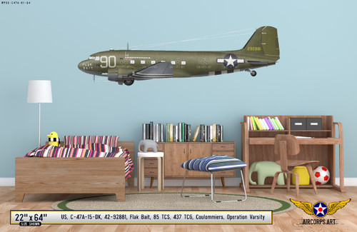 """C-47A Dakota """"Flak Bait"""" Decorative Vinyl Decal"""