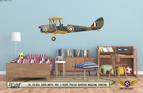"DH.82A ""Tiger Moth"" Decorative Vinyl Decal"