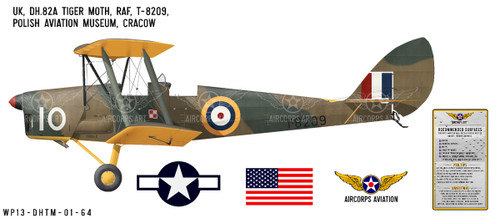 "DH.82A ""Tiger Moth"" Decorative Vinyl Decal"