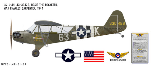 "L-4H Grasshopper ""Rosie the Rocketer"" Decorative Vinyl Decal"
