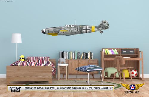 BF 109G-6 Messerschmitt Decorative Vinyl Decal