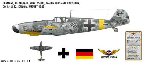 BF 109G-6 Messerschmitt Decorative Vinyl Decal