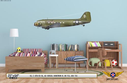 """C-47A Dakota """"Honeybun III"""" Decorative Vinyl Decal"""
