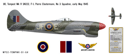 Hawker Tempest Mk V Decorative Vinyl Decal