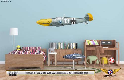 BF 109E-3 Messerschmitt Decorative Vinyl Decal