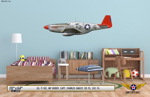 "P-51C Mustang ""My Buddy"" Decorative Vinyl Decal"