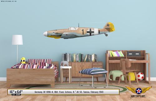 Bf 109G-4 Messerschmitt Decorative Vinyl Decal