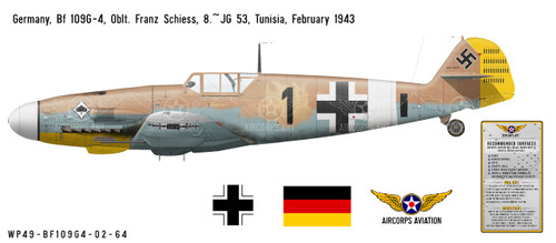 Bf 109G-4 Messerschmitt Decorative Vinyl Decal