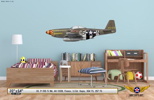 "P-51D Mustang ""Frenesi"" Decorative Vinyl Decal"