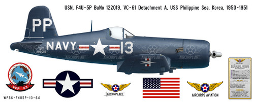 F4U-5P Vought Corsair Decorative Vinyl Decal