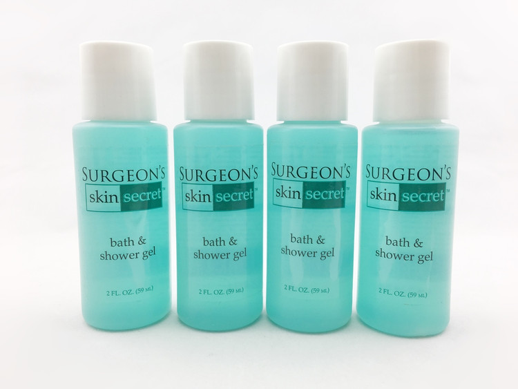 Surgeon's Skin Secret Bath & Shower Gel 4 Pack 2 oz Travel Size