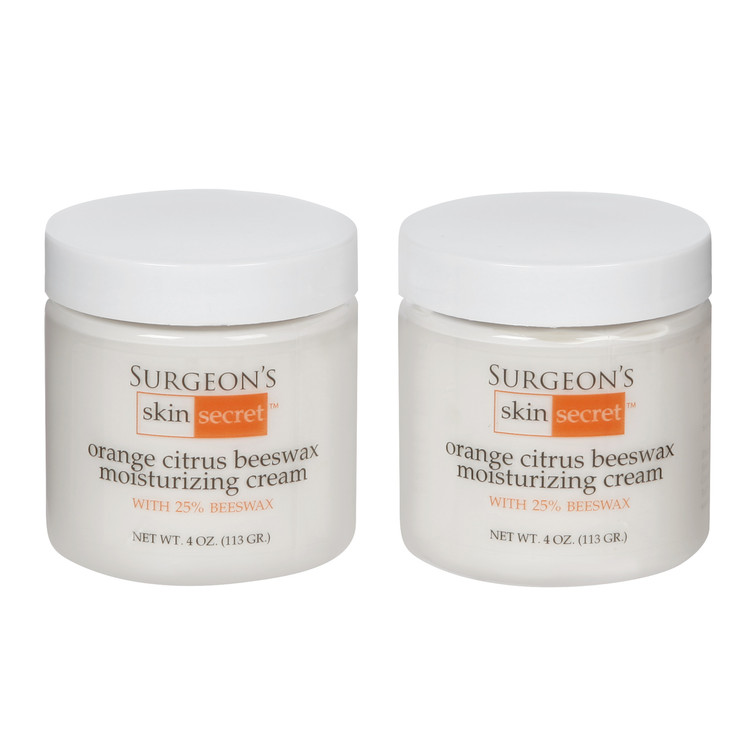 Surgeon's Skin Secret Orange Citrus Cream 2 pack.  Natural Beeswax-based moisturizer with 25% beeswax. Great for eczema, and psoriasis related skin disorders and for dry skin itch.  Your skin will feel silky smooth all-day long.  It's creamier than our original formula, firmer than the lotion. Great for everyday moisturizing needs, or delicate areas like face, ears and hands.  Also makes a great night cream.