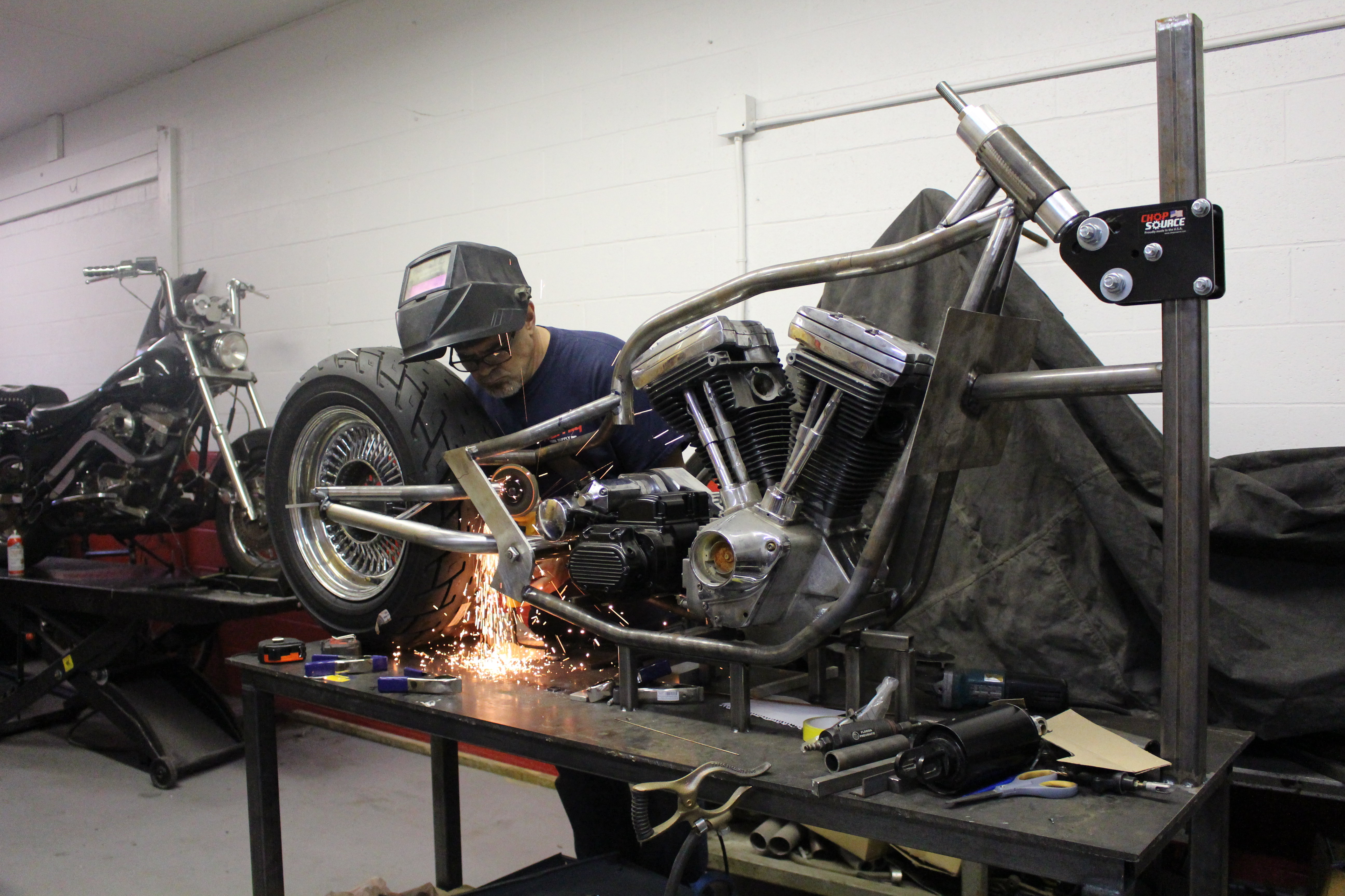 Dan Toce Welding From the Frame