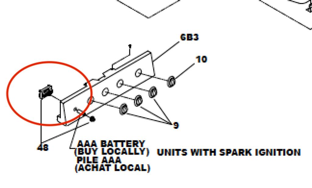 Suburban 4 Wire Range Igniter 233287 (SRNA3/SRSA3)