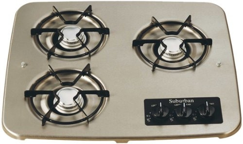 Stove; Drop-In Cooktop; 18-15/16 Inch Width; Match Light; 6500 BTU For Front Burner And 5200 BTU 2 Rear Burners; 3 Burner; With Single Piece Grate