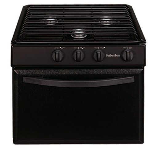 Stove; Range; Black; 3 Burners