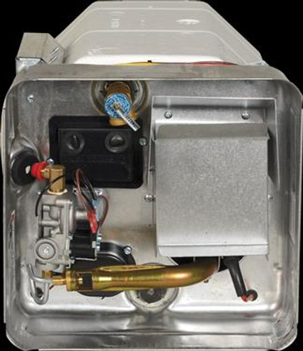 Water Heater; Electric; Model Number SW6DEL; 6 Gallon; Direct Spark Ignition; 12000 BTU; 12-11/16 Inch Height x 12-11/16 Inch Width x 19-3/16 Inch Depth