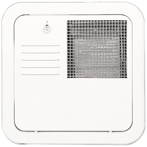 Water Heater Access Door; For Suburban 10 Gallon Water Heater; Flush Mount; Polar White; Galvanized Steel